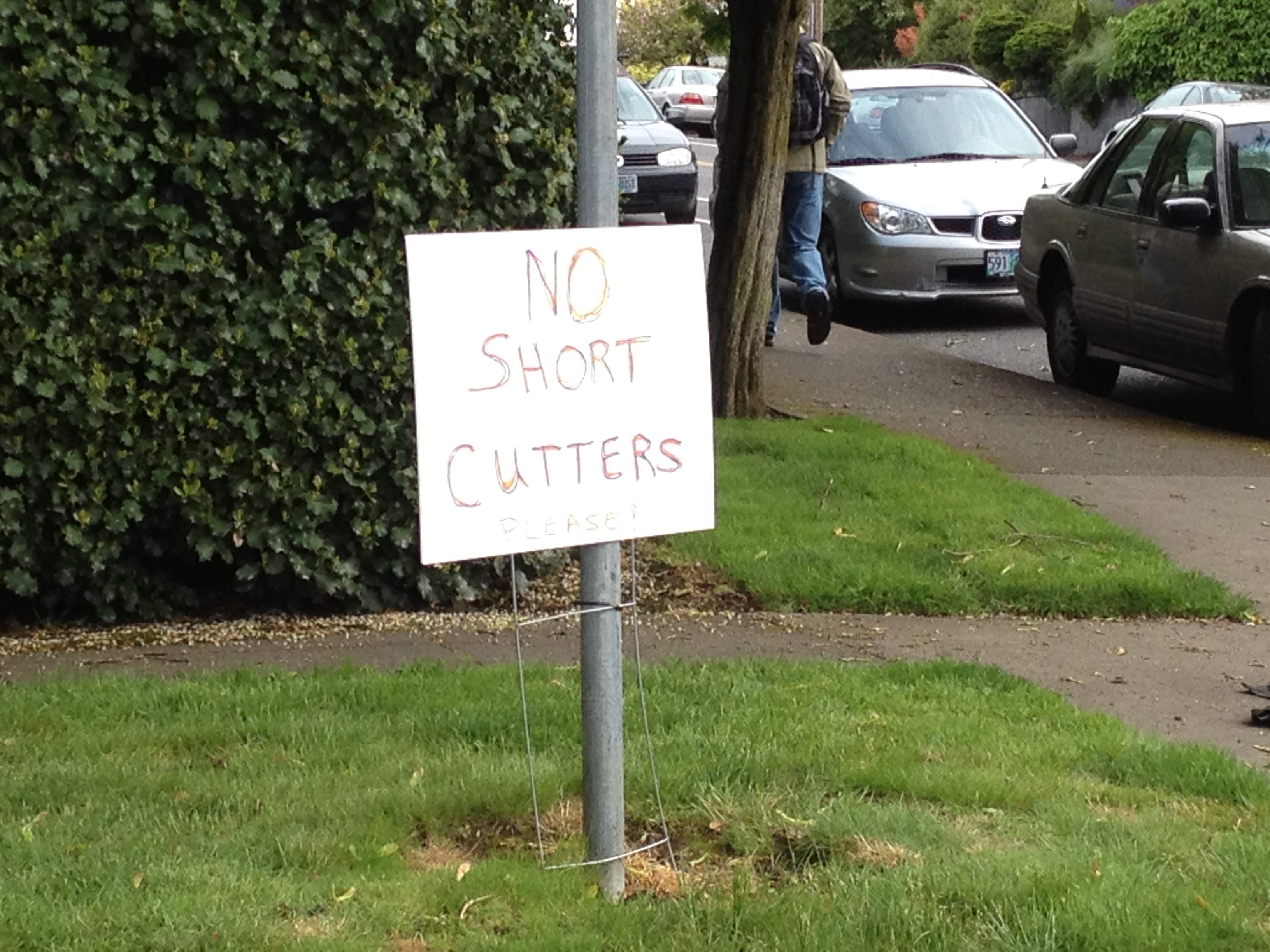 No Short Cutters. Please.